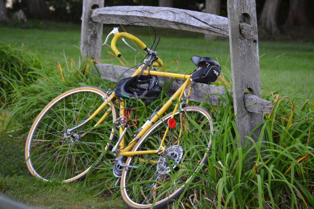Bike on gate